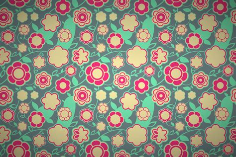 color your own wallpaper retro floral pattern wsw10212066 hd wallpaper