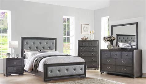 rodeo drive pewter gray panel bedroom set from avalon