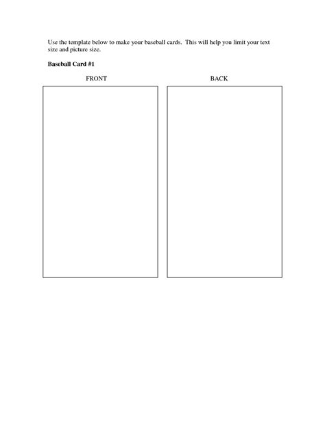 best photos of baseball trading card template printable
