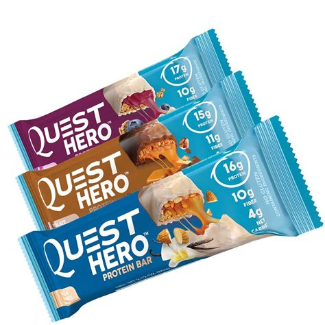 amazon quest bars quest hero bars high in protein low in guilt