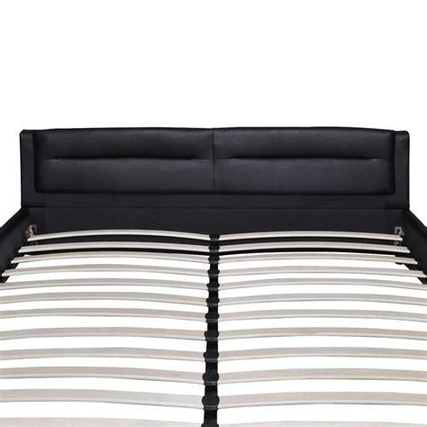 matratze 140x200 sale kunstlederbett 140x200 cm schwarz matratze g 252 nstig