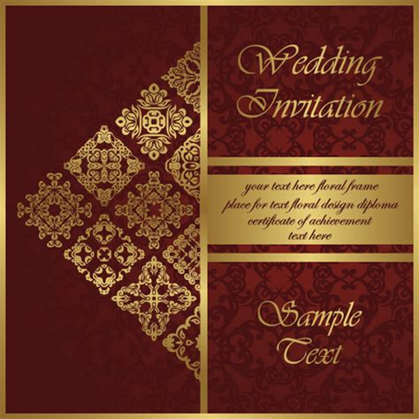 Wedding Invitation Card Vector by Wedding Invitation Card Vintage Styles Vector 02 Free