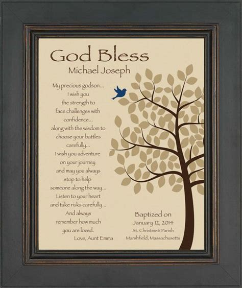 godson personalized gift gift for baptism by