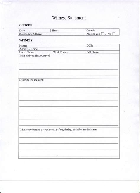 written witness statement template written statement template witness 28 images how to
