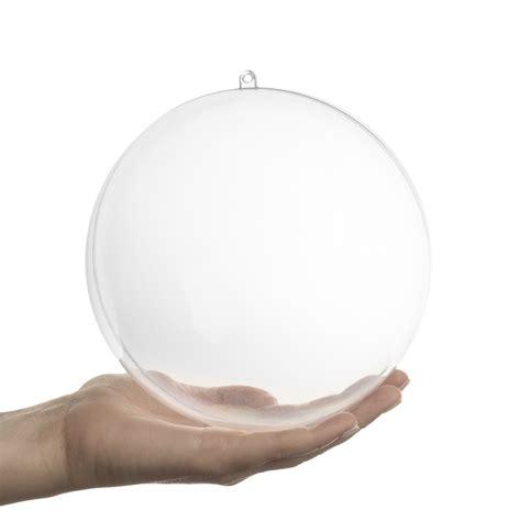Clear Acrylic Ornaments - 156 mm clear acrylic fillable ornament acrylic