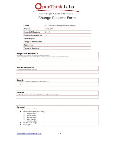 Software Development Request Form Template Software Development Change Request Template 2