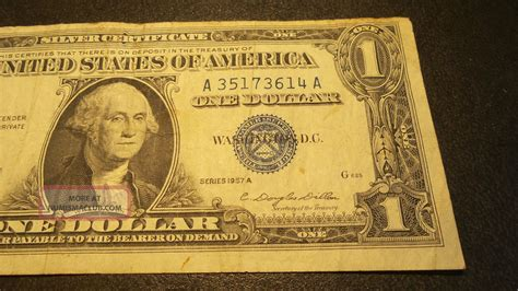 silver certificate blue seal usa   dollar