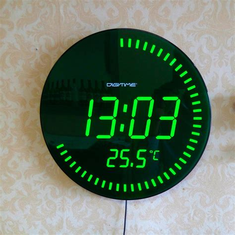 Design Home Decor Wall Clock by Aliexpress Com Buy 3d Creative Circular Large Led