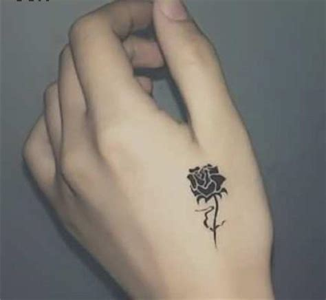 cute small rose hand tattoo venice tattoo art designs