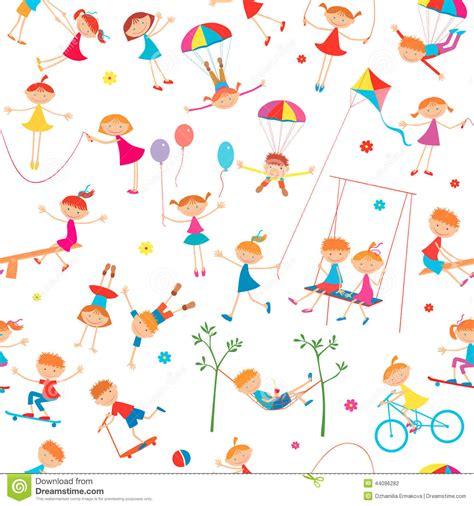 imagenes de niños verdes fondo con jugar a ni 241 os ilustraci 243 n del vector imagen