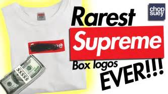 supreme box logo 5 rarest supreme box logos