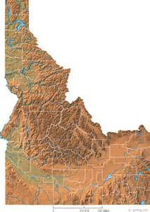 geographic id map idaho physical map and idaho topographic map