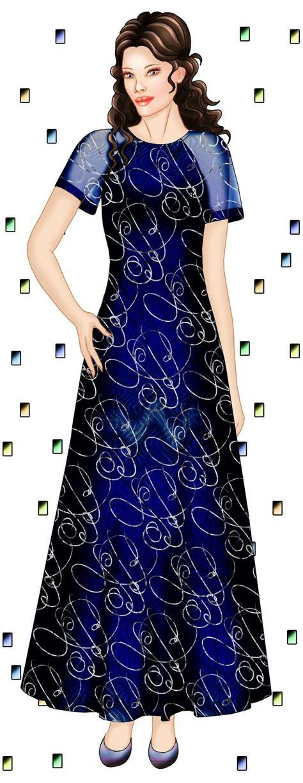 pattern dress chiffon dress with chiffon raglan sleeves sewing pattern 5591