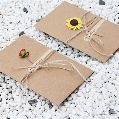 Postcard Handmade - postcard envelopes diy retro envelope kraft paper flowers