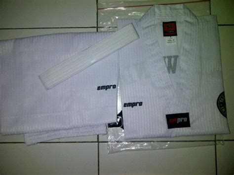 Dobok Empro Kerah Putih New Model produk adidas taekwondo taekwondo poltek