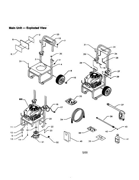 craftsman pressure washer parts diagram craftsman pressure washer parts model 580768332 sears