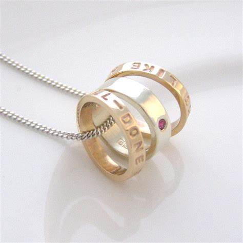 white and yellow gold personalised necklace by soremi
