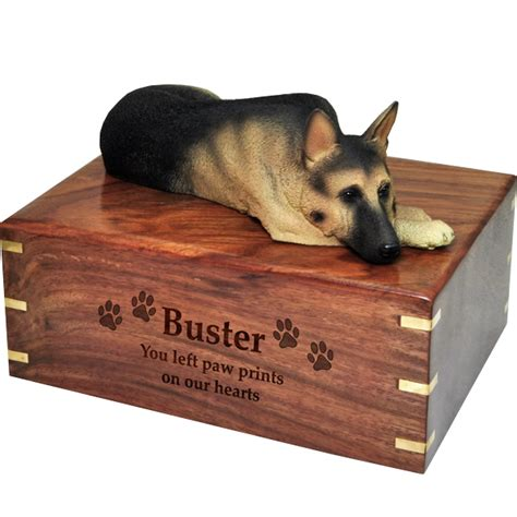 urns for dogs wholesale pet cremation wood urns german shepherd laying
