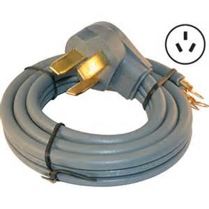 50 amp 3 wire right angle range cord kit 4 length az partsmaster