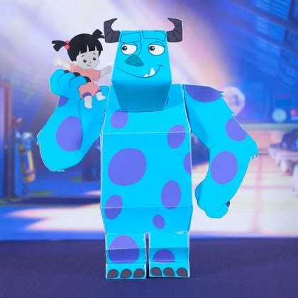 Papercraft Monsters - sulley and boo 3d papercraft disney family