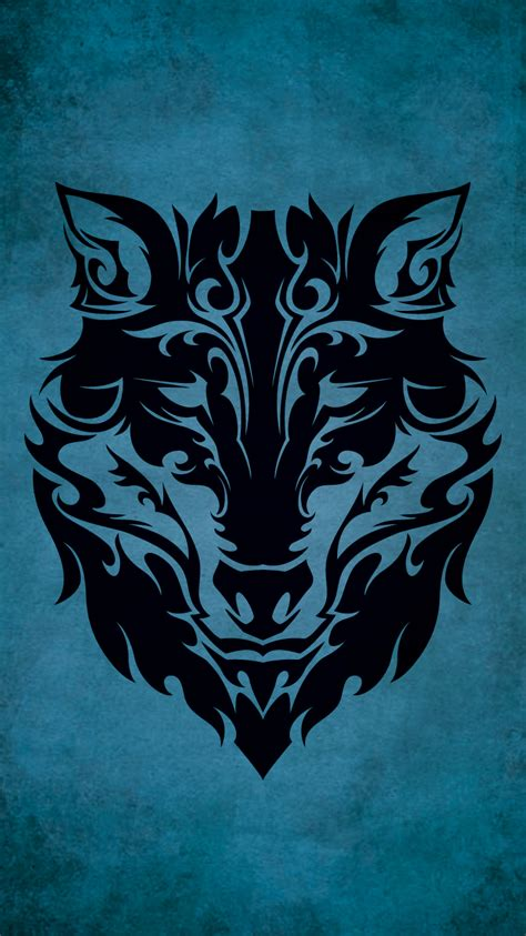 wallpaper tattoo tribal tribal wolf iphone 6 wallpaper 750x1334