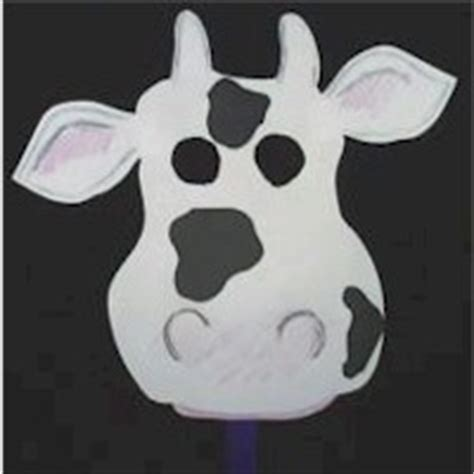 fil a cow mask template cool cow mask