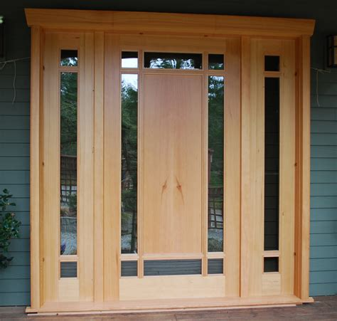Handcrafted Doors - custom wood doors saratoga woodworks craftsman style