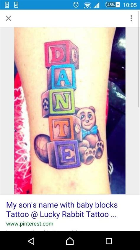 baby block tattoos baby blocks googled tattoos babies