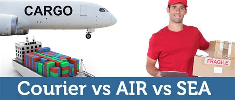 courier vs air freight vs sea freight