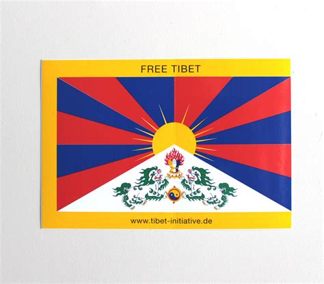 Aufkleber Online Shop by Aufkleber Tibetflagge Gro 223 Tibet Online Shop