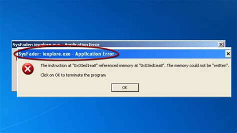 how to fix the sysfader iexplore exe application error