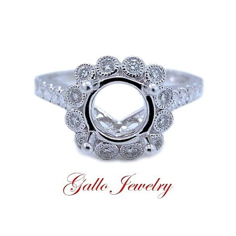eng00693 unique style halo engagement ring