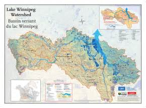 canada drainage map lake winnipeg watershed tiled map canadian geographic