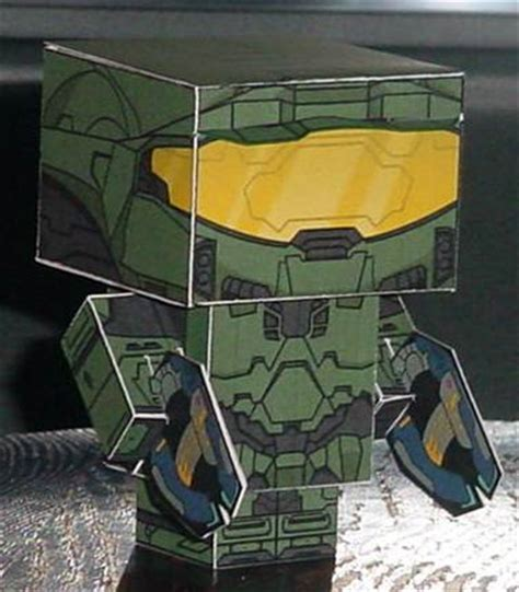 Master Chief Papercraft - master chief cubee by paperart on deviantart