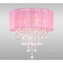 pink ceiling light new 18 034 pink shade 6 light flush mount