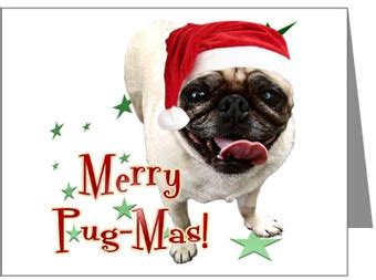 merry pug pictures card invitation sles pug cards design humorous merry pug