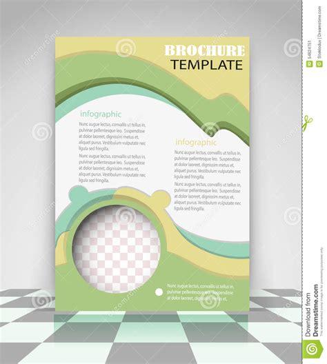 creative flyer design vector yellow and green creative flyer design stock vector