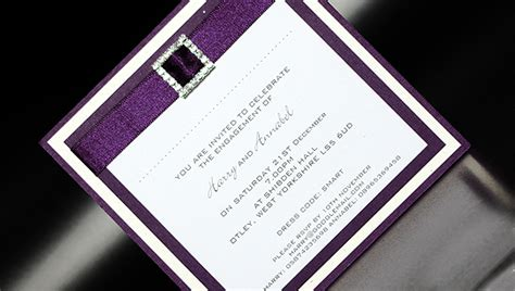 Handcrafted Invitations - diamante day handmade wedding invitations