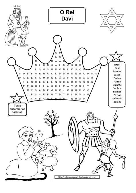 40 Atividades Bíblicas sobre o Rei Davi para Imprimir e