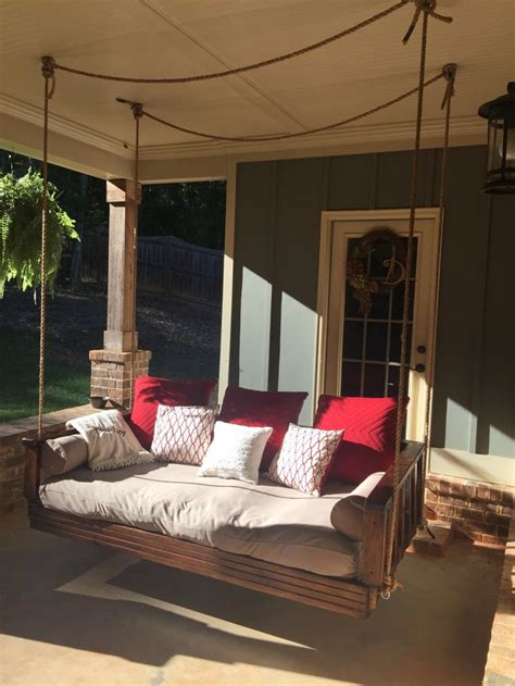 bed swings for porches day bed swing porch swing by deuleydesigns on etsy