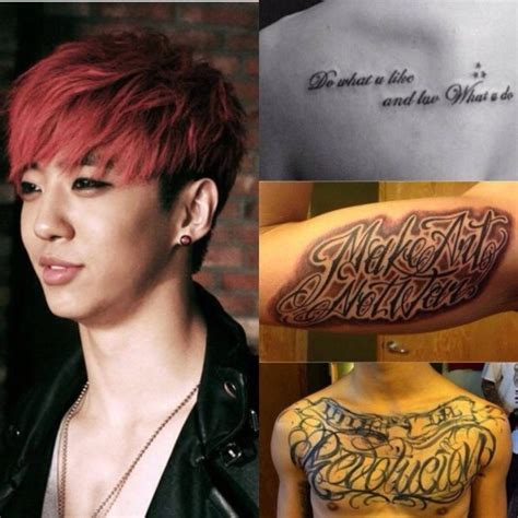 yongguk tattoo vote which k pop looks best with tattoos soompi