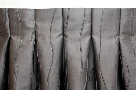 flat pleat curtains inverted pleat a single tuck to the back making the front