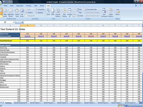 rental property spreadsheet template 25 property tracking expense and rental income tracking