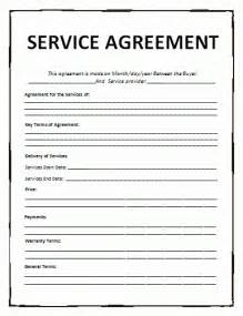 free terms of service agreement template service agreement template free word templates
