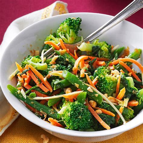 vegetables meals sesame steamed vegetable salad recipe taste of home