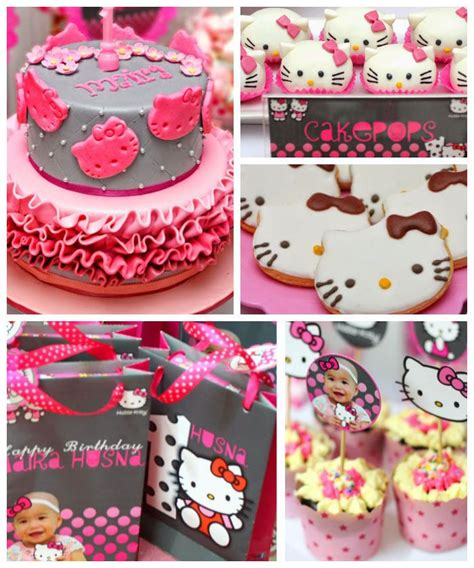 couple kitty themes ideas pink and grey hello kitty themed birthday party with such