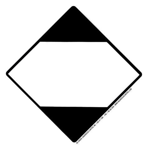 printable hazard label image gallery hazmat placards and labels