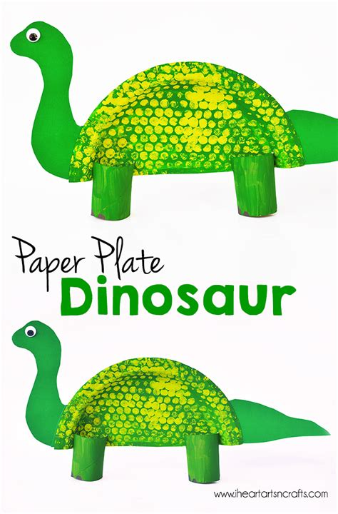 dinosaur paper craft paper plate dinosaur craft i arts n crafts