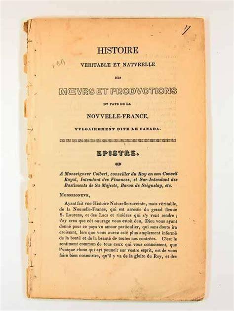 1332371760 histoire veritable et naturelle des brochure histoire v 233 ritable et naturelle des moeurs et
