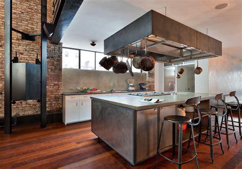 New York Loft Kitchen Design Cozy Townhouse Loft In Soho New York Shockblast